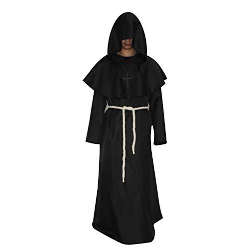 Junecat Unisex Kostüm Mittelalterliche Monks Robe Wizard Pastor Christen Kleid