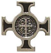 Pin's (épinglette Badge Broche Croix celtique Bouton trou en émail noir