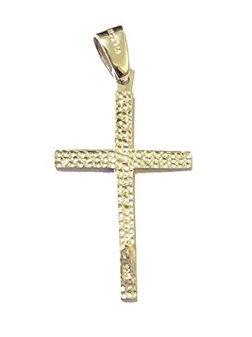 Bolivienne–Argent 925Sterling Double face de Croix Pendentif cadeau