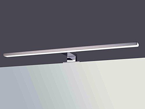LED Spiegelleuchte Spiegellampe Aufbauleuchte verchromt 600mm tageslichtweiß 230V 8W