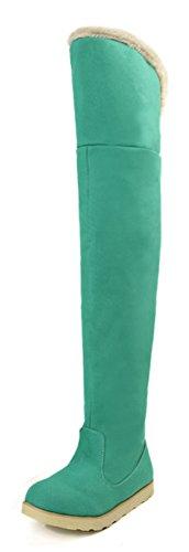Moda Aisun Stivali Verdi Di Lunga Donna Indossare Piatti qAwAt