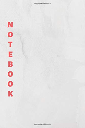 Notebook: White & Red Lined Notebook & Journal for Writing (110 pages, College Ruled, 6 x 9 inches, Matte, Colorful Cover) || Classic Notebooks