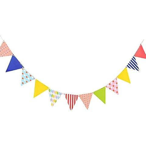 Bunting Bandera Colgante Para Decoración De Hogar Fiesta Cumpleaños - Dulce Corazón