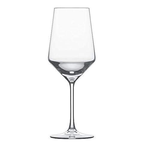 Schott Zwiesel 112413 Serie Pure 6-teiliges Cabernet Rotweinglas Set, Kristallglas