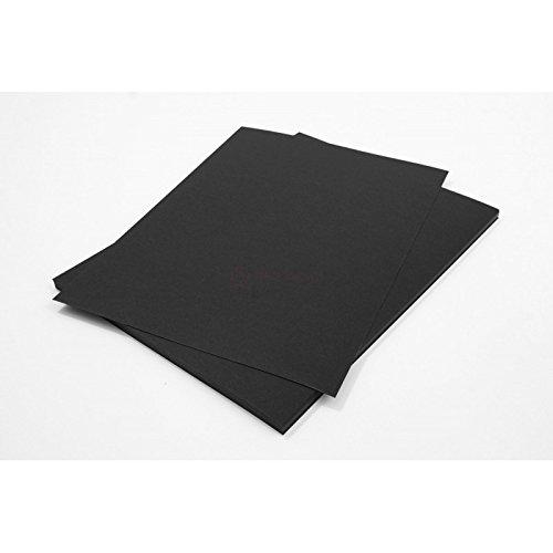 Netuno 50 Blatt Schwarz 500g Tonpapier DIN A4 210x297mm Burano Nero, ideal für Karten, Scrapbooking, Basteln und Dekorieren mit Papier, Einladungen, Kunst und Handwerk