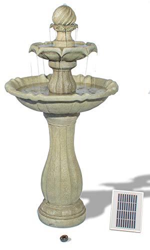 Solaray 2-stufiger Solar-Kaskadenbrunnen mit LED-Beleuchtung, 112cm