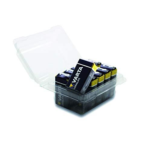 VARTA Longlife 9V Block 6LP3146 Batterie, Alkaline E-Block Batterien ideal für Feuermelder Rauchmelder Stimmgerät im 10er Pack von wns-emg-world