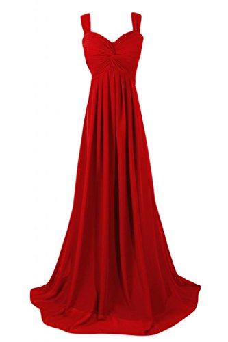 Sunvary Graceful Empire Style-abiti da damigella d'onore Pageant Gowns abito da donna Red