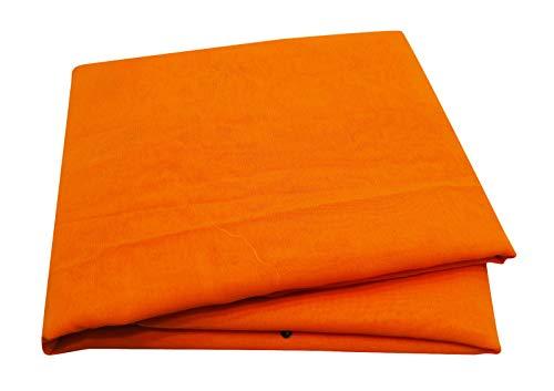 PEEGLI Indische Traditionelle Frauen Jahrgang Saree Bestickt Designer Georgette Mischung Stoff DIY Tuch Kunst Dekor Orange Ethnischen Saree -