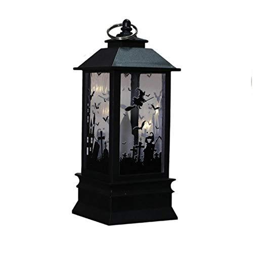 TTYAC Halloween LED Kerzenlaterne Batteriebetriebene Tischlampe Hängende flammenlose LED Teelichtkerze Halloween Dekorationen Lampion, C, - China Kostüm Großhandel