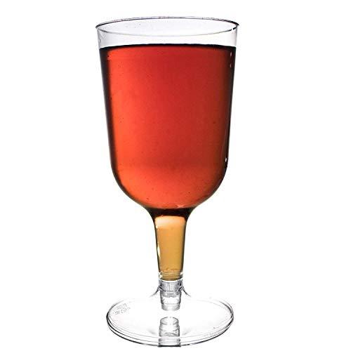 48 Verres à Vin Jetables en Plastique, 180 ml - Réutilisables et 100% Recyclables - Élégants, Clair Comme du Verre, Incassables - Parfaits pour la restauration, les réceptions, les fêtes, Noël.