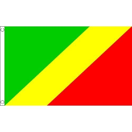 Congo Brazzaville Flag 5Ft X 3Ft African Country Africa Banner New by Congo Brazzaville -