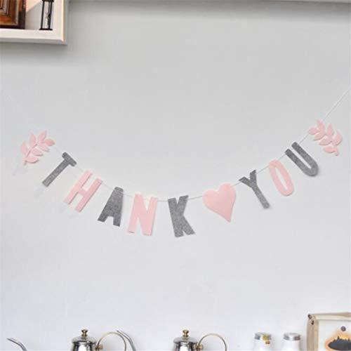 VWH Valentinstag Thema Briefe Girlande Party Banner Buntings Raumdekoration Lieferungen(Vielen Dank)