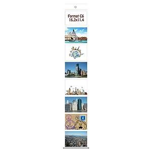 Trendfinding Foto Bilder Karten Halter Fototasche Fotowand Fotohalter Kartenhalter (1 x 8 Fotos Querformat C6 11,4×16,2)
