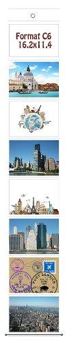 Fototasche C6 11,4 x 16,2 für 8 Fotos Querformat Postkarten Format Fotowand Fotovorhang Fotogalerie Fotohalter Taschenvorhang Fotos