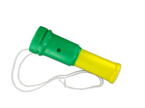 Air Blaster Fußball Fantröte Stadiontröte , Farbe:gelb/grün