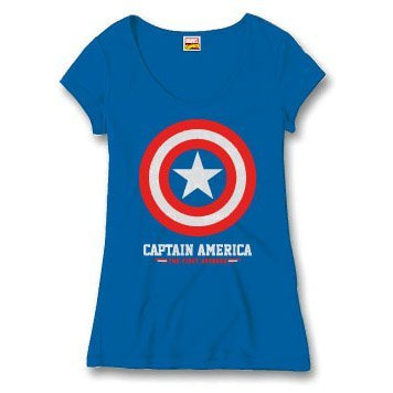 Captain america - Top - Donna blu X-Large