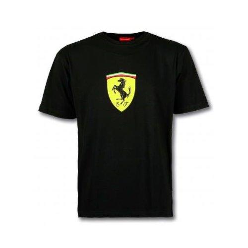 Camiseta negra Logo Ferrari (Talla: Talla XXL Unisex Ancho/Largo [60cm/75cm] Aprox])