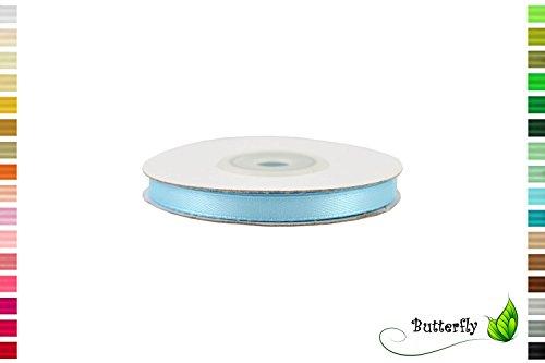 Satinband, Schleifenband, hellblau | 25m Rolle 6mm