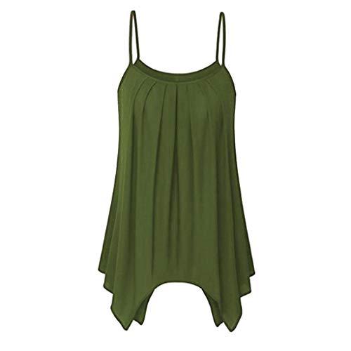 Yvelands Damen Weste ärmelloses Unterhemd Camisoles T-Shirts Casual unregelmäßiges Cami Tank ()