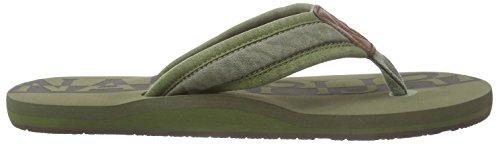 Napapijri Toledo, Tongs homme Vert - Grün (khaki green N76)