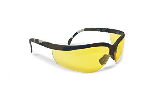 Occhiali da tiro e poligono protezione antiurto - 3 lenti antiappannanti incluse - aste regolabili - by Bertoni AF159