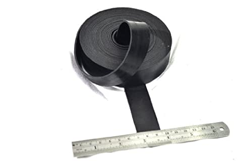 RUBBER STRIP 25mm wide x 2mm thick x 5m long - SOLID NEOPRENE BLACK RUBBER
