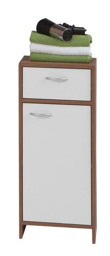 SB-Design 901-002 Madrid 2 - Armario (32,5 x 79 x 33 cm), ciruelo/color blanco