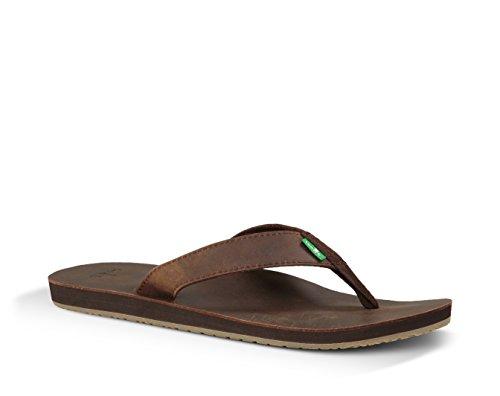 John doe sanuk sandal dark brown Marron - Marron foncé