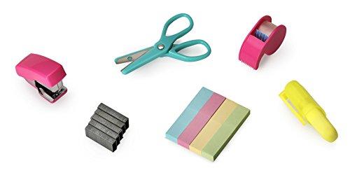 NPW NPW57294 Mini Schreibmaterial Hefter Schere Set für die Schule Bürowerkzeug-Kit Note To Self