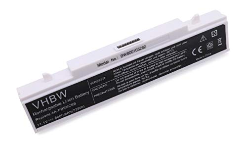 vhbw Batterie LI-ION 6600mAh 11.1V pour Samsung RC520, RF410, RV409 etc. Remplace AA-PB9NC6B / AA-PB9NS6B / AA-PB9NC6W