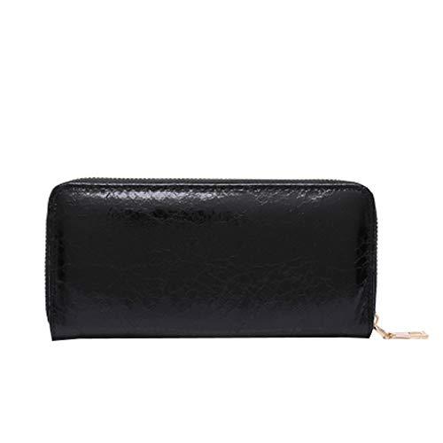 Mitlfuny handbemalte Ledertasche, Schultertasche, Geschenk, Handgefertigte Tasche,Mode frauen einfarbig reißverschluss leder brieftasche geldbörse kartenhalter handtasche