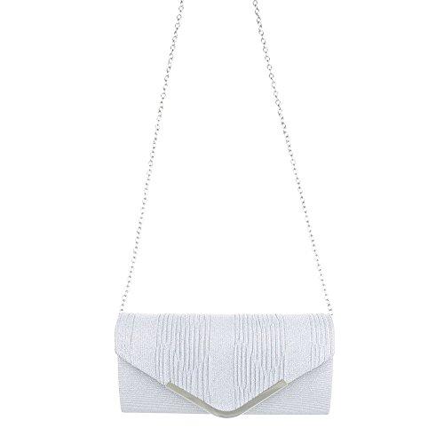 Taschen Clutch Schultertasche Silber