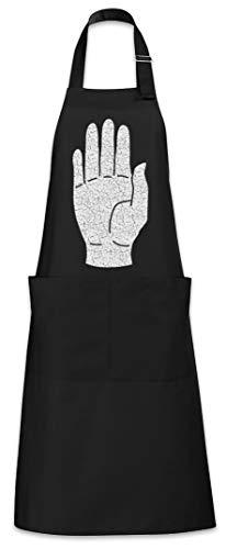 Urban Backwoods White Hand I Delantal De La Cocina