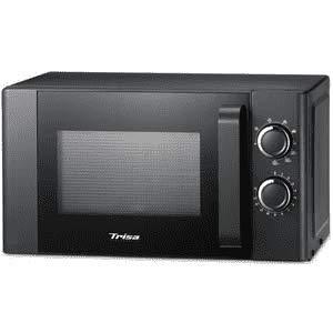 """Trisa Mikrowelle""""Micro Grill 20L"""" Schwarz 700 Watt 2 L Fassungsvermögen 20 Liter Garraum Moderne Mikrowelle zum Auftauen, Erhitzen, Garen und Grillen 9 verschiedene Stufen"""