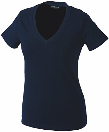 Damen V-Neck T-Shirt Navy