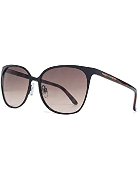 French Connection Fine Metal Square Sonnenbrille in schwarz FCU658