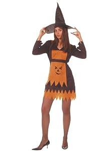 César - Disfraz de bruja piruja con sombrero para mujer (adulto)