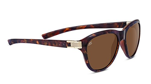 Serengeti Elba Lunettes de soleil Elba Shiny Red Moss Tort / Satin Brass Polarized Drivers