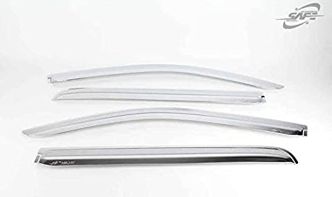 Chrome Wind Deflectors Window Visors 4P compatible with 2005 -