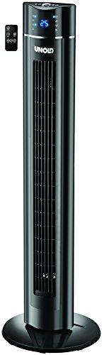 UNOLD 86855 TURMVENTILATOR Skyline, Zuschaltbare Oszillation, 3 Stufen, Timer-Funktion, Aromabox, Fernbedienung, Schwarz, 60W, 60 W, 230 V