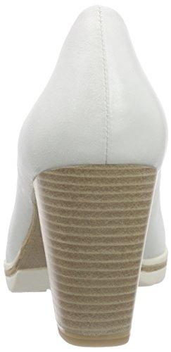 Marco Tozzi Premio 22419, Chaussures à talons - Avant du pieds couvert femme Blanc (Offwhite 109)