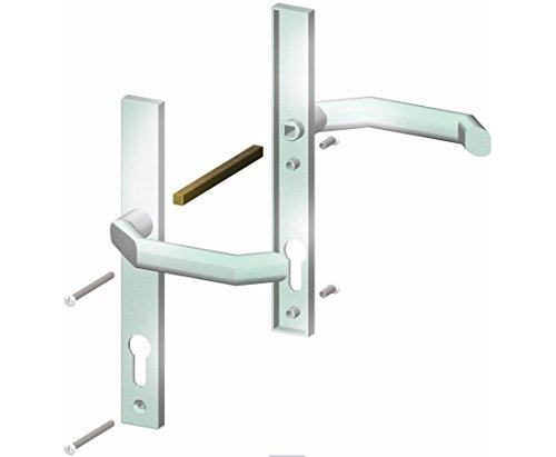 Drückergarnitur in Edelstahloptik für alle Sichtschutzwand Tore - Pfosten für Sichtschutzwände, Elementhalter, Gartenpfosten, Zaunpfosten, Einschlaghülsen, Aufschraubhülsen, Pfosten zum einbetonieren, Pfosten für den Erdverbau, Pfostenträger, U Montageprofil, WPC Zubehör, Aufschraubpfosten, </p> --> großes Sortiment an Sichtschutz, Bambus, Schilf, Naturprodukte und Zubehör für Garten