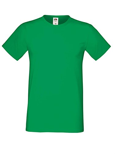 Fruit of the Loom Herren Sofspun T-Shirt - Erhältlich in 10 Fa - Kelly Green - S (Fa T-shirt S/s)