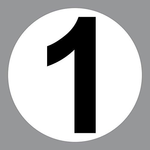 2 Aufkleber 15cm Startnummer Racing Auto Nummer Zahl Ziffer Tor Halle Garage Werkstatt Müllkontainer (Startnummer 1) (Aufkleber Auto Racing)