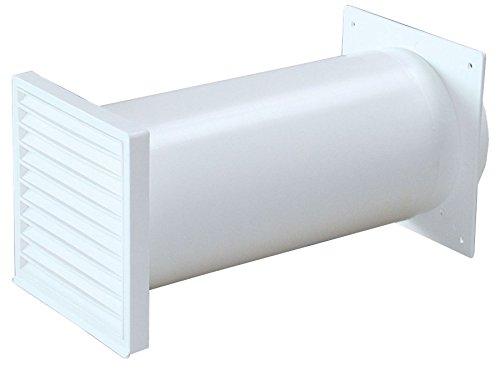 Échappement Boîtier Mural Blanc Ø 150 mm Telescope Tube Rond 22 Jusqu'à 48 cm Clapet Anti-retour 528394
