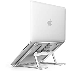 Soudance Support Ventilé pour Ordinateur Portable Réglable pour Bureau, Ergonomique Support Compact Riser pour Mac Macbook Pro / Air et tous les Ordinateurs Portables d'Apple, Argent AS1