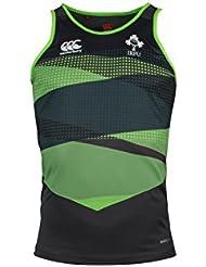 Oficial de Rugby de Irlanda IRFU hombre Vapodri Poly camiseta chaleco, hombre, Ireland Rugby Vapodri Poly, Asphalt, XL
