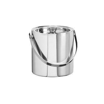 3 Qt. Brushed Stainless Steel Double Wall Ice Bucket by Kraftware Stainless Steel Double Wall Ice