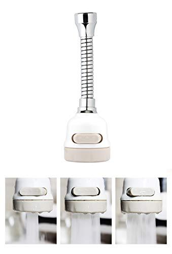 Wasserhahn-Sprüher, 3 Geschwindigkeiten, verstellbare Verlängerung, wassersparend, Anti-Spritzwasser, Wasserhahn, Düse, Filter, Luftsprudler für Küche und Badezimmer